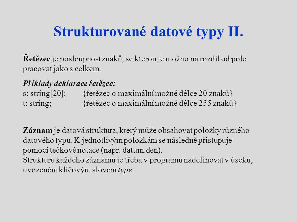 Strukturované datové typy II.