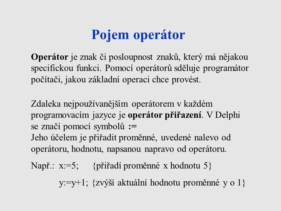 Pojem operátor