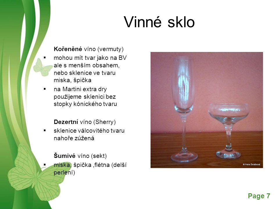 Vinné sklo Kořeněné víno (vermuty)