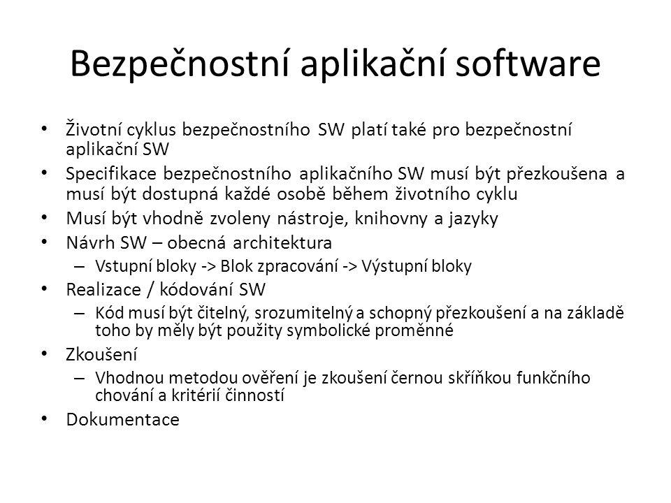 Bezpečnostní aplikační software