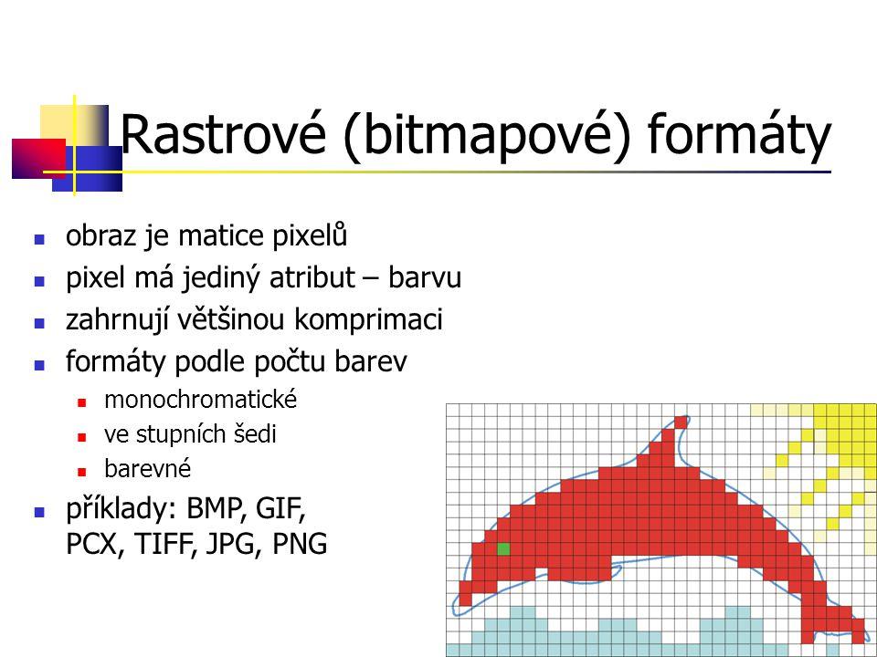 Rastrové (bitmapové) formáty
