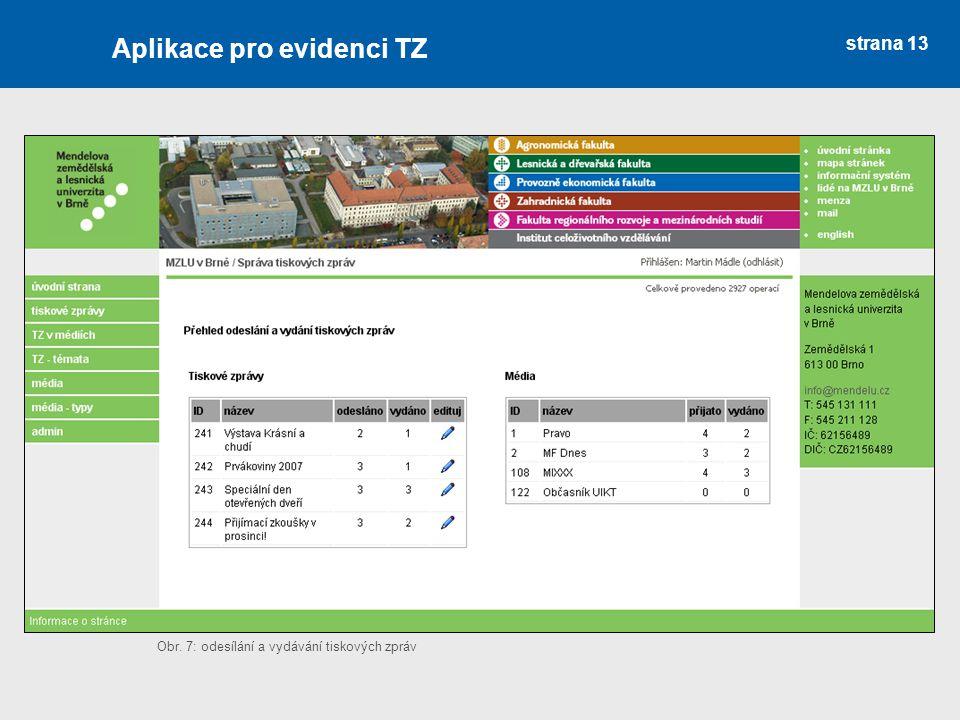 Aplikace pro evidenci TZ