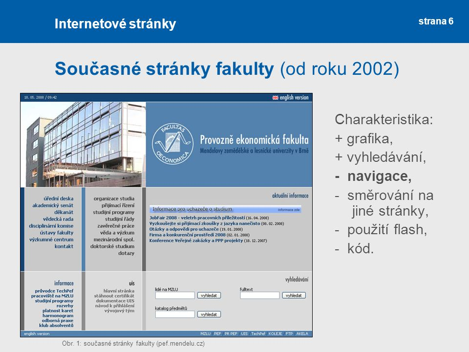 Současné stránky fakulty (od roku 2002)