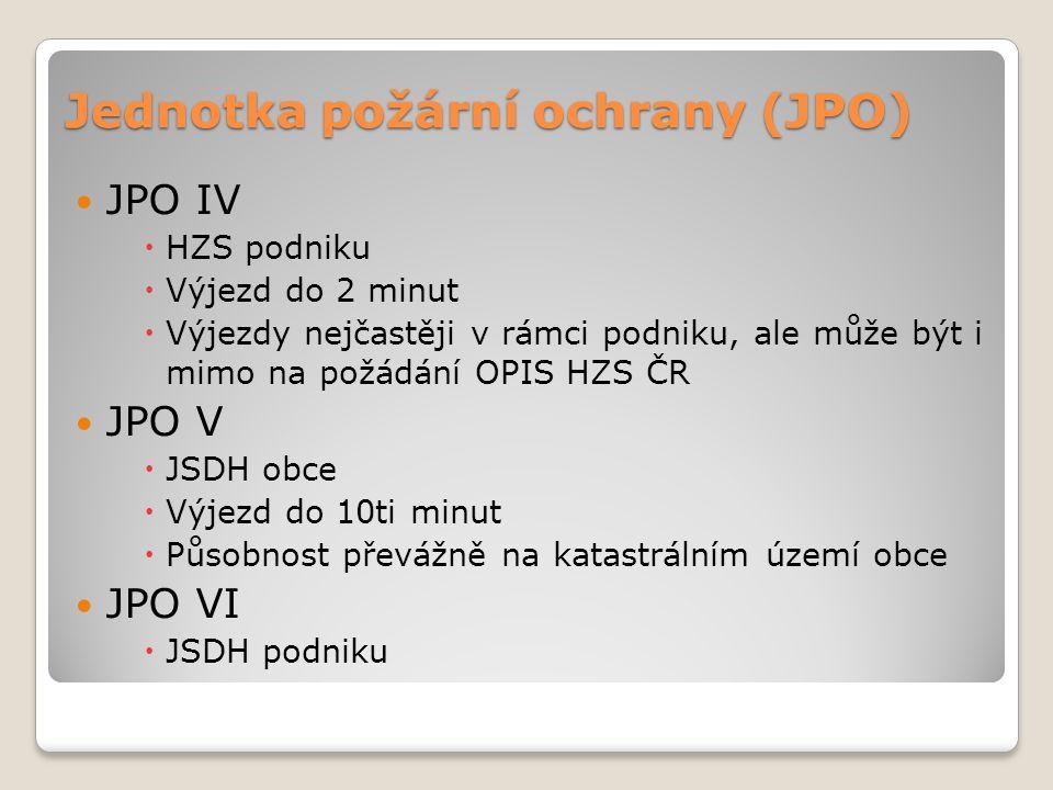 Jednotka požární ochrany (JPO)