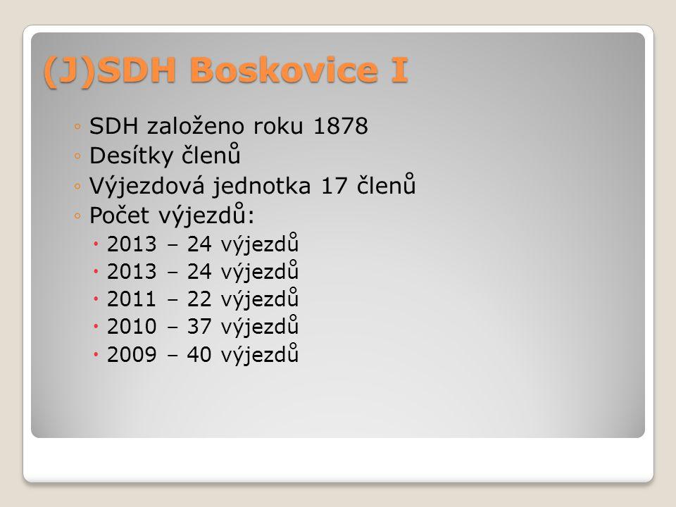 (J)SDH Boskovice I SDH založeno roku 1878 Desítky členů