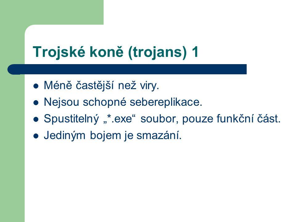 Trojské koně (trojans) 1