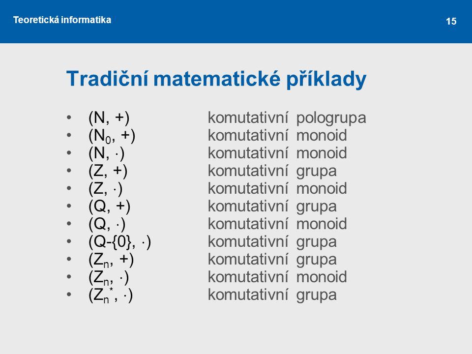 Tradiční matematické příklady
