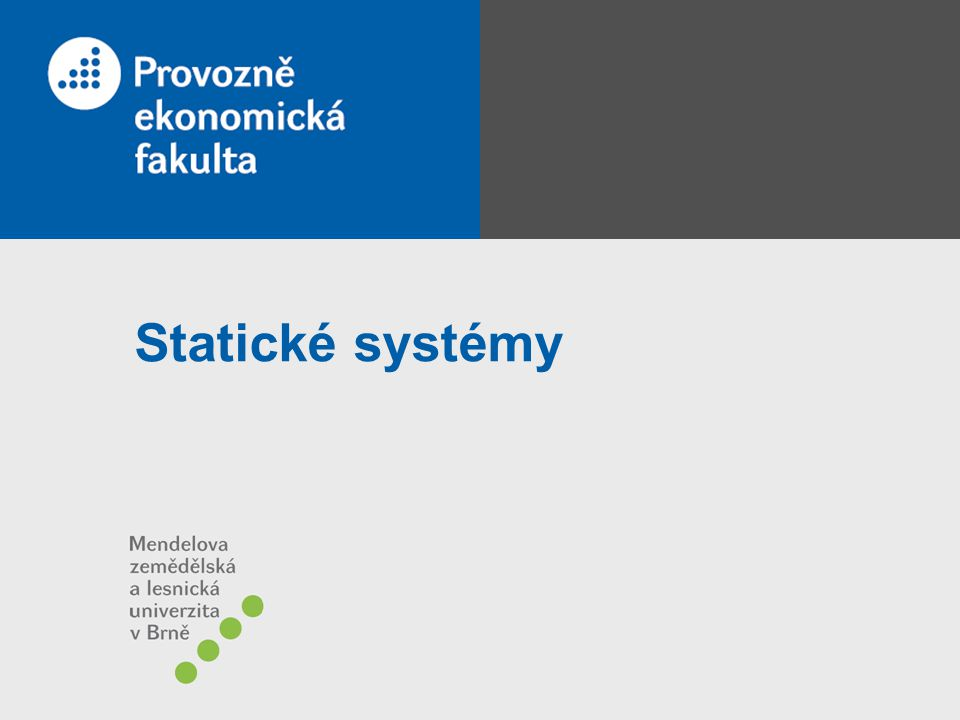 Statické systémy