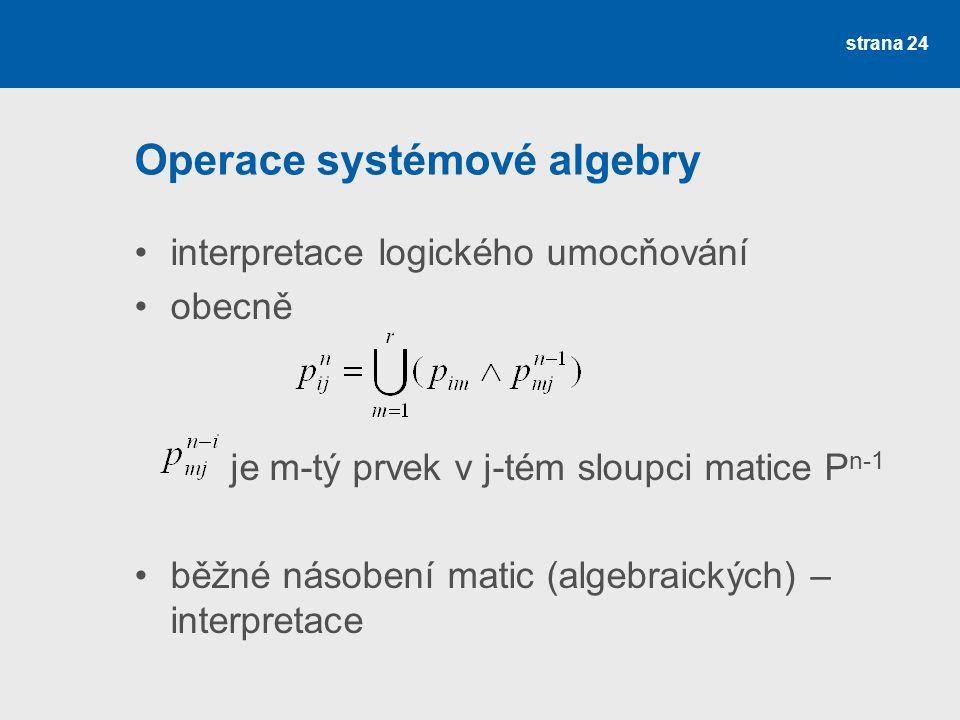 Operace systémové algebry