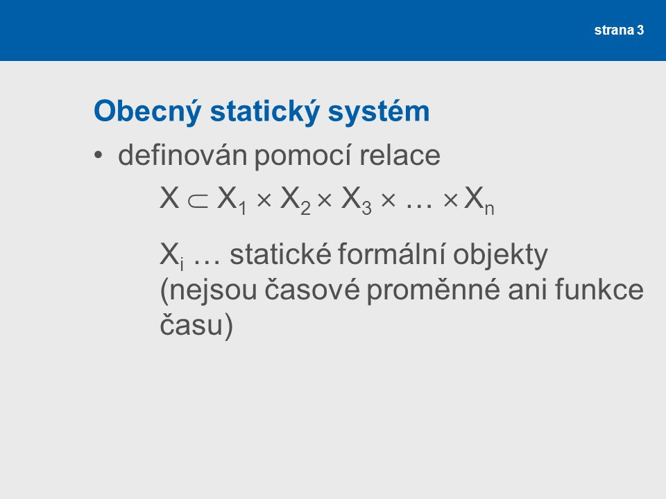 Obecný statický systém