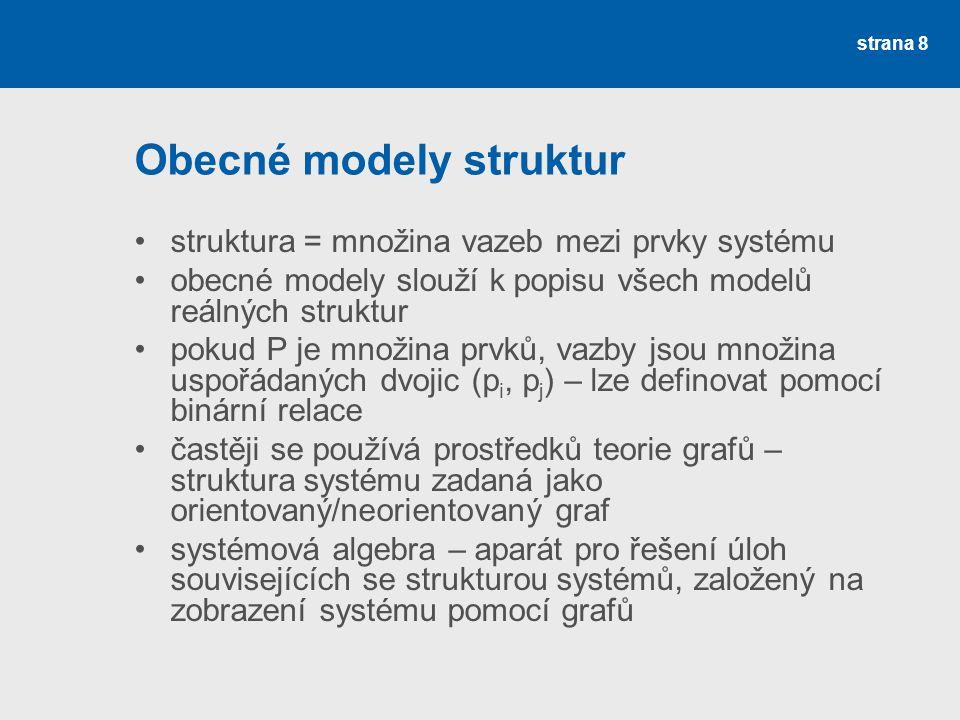Obecné modely struktur
