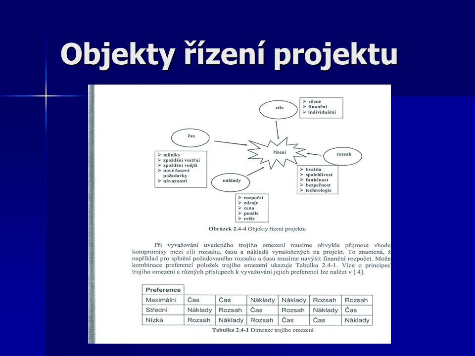 Objekty řízení projektu