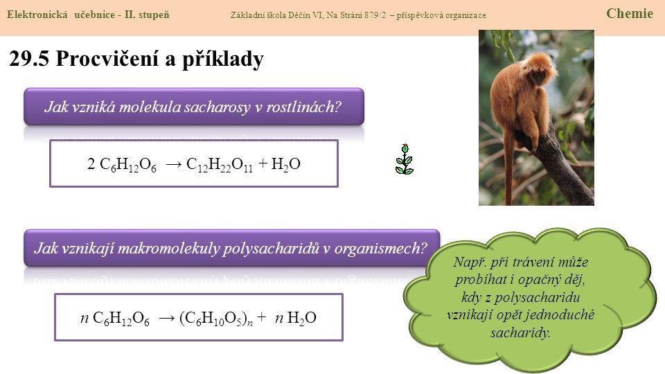29.5 Procvičení a příklady Jak vzniká molekula sacharosy v rostlinách
