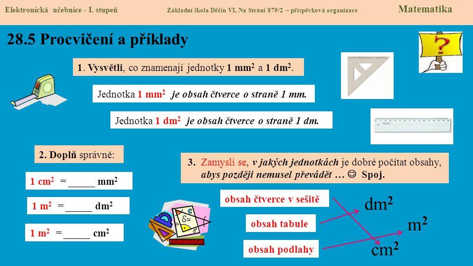 dm2 m2 cm2 28.5 Procvičení a příklady