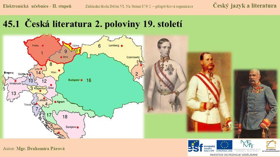 45.1 Česká literatura 2. poloviny 19. století