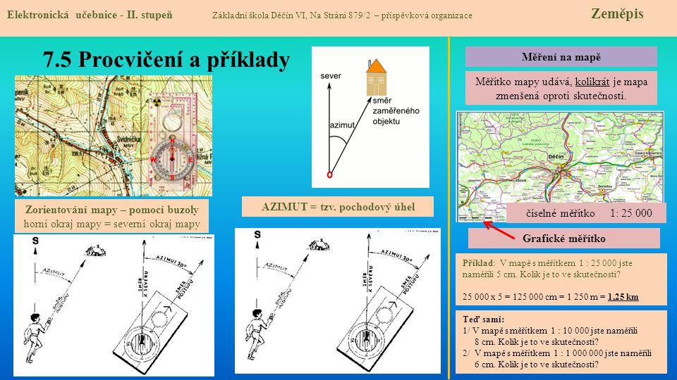 Zorientování mapy – pomocí buzoly AZIMUT = tzv. pochodový úhel