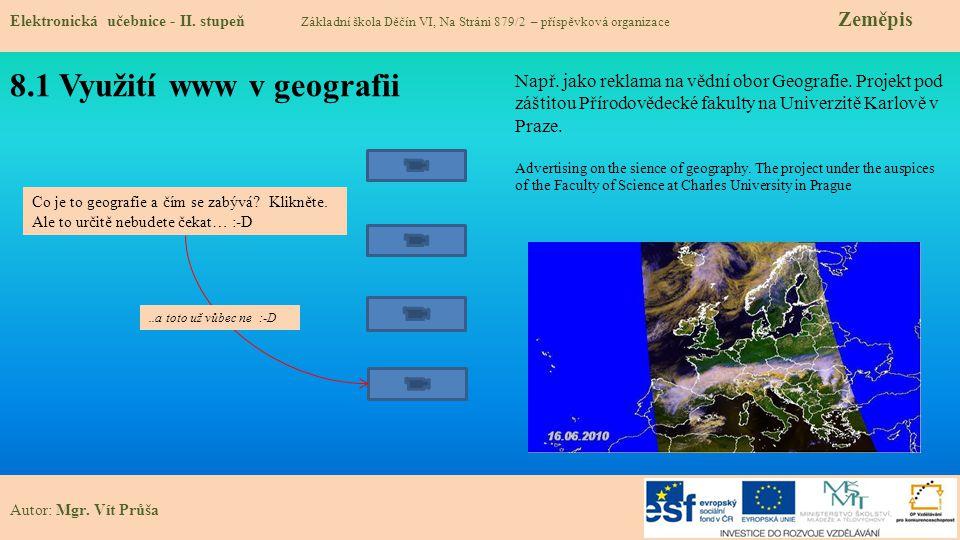 8.1 Využití www v geografii