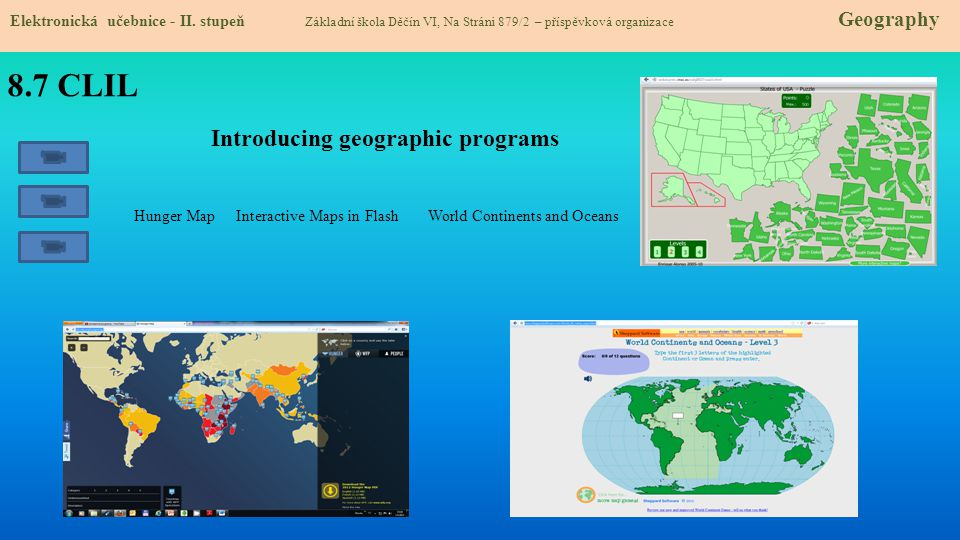 8.7 CLIL Introducing geographic programs