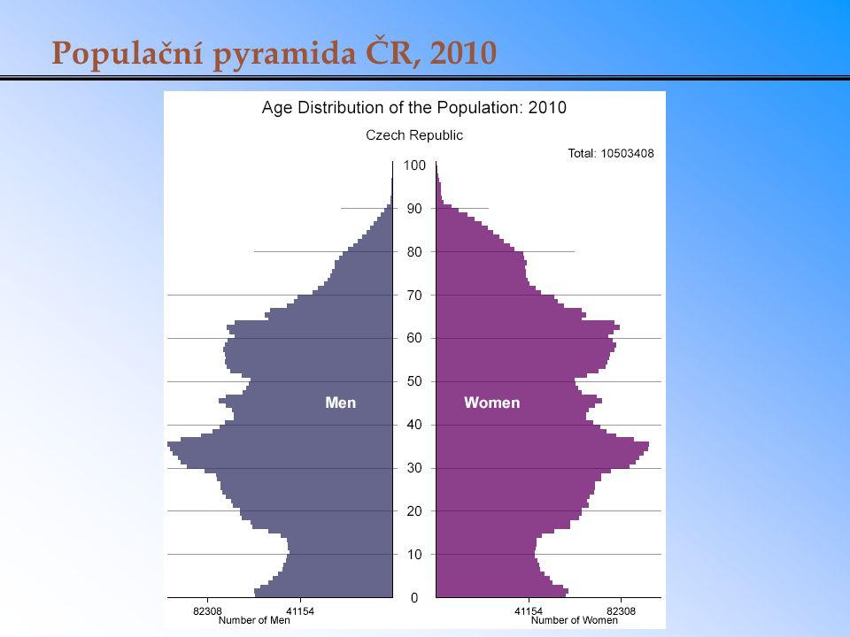 Populační pyramida ČR, 2010