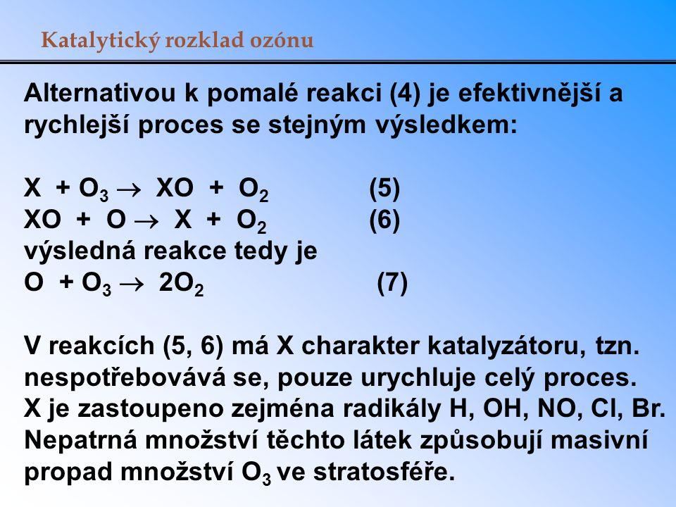 výsledná reakce tedy je O + O3  2O2 (7)
