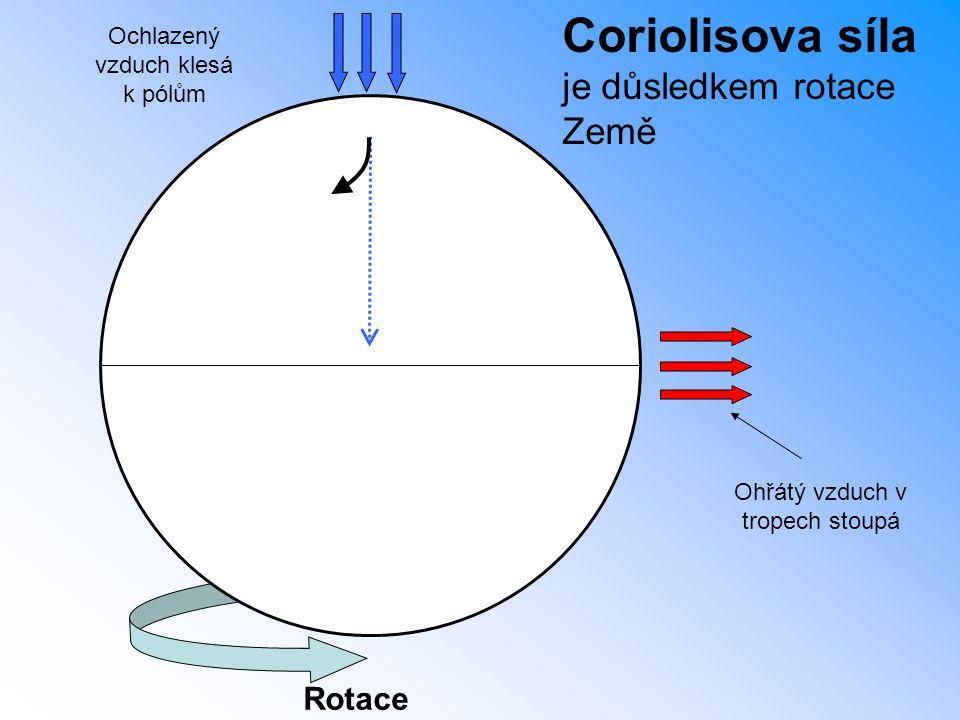 Coriolisova síla je důsledkem rotace Země Rotace