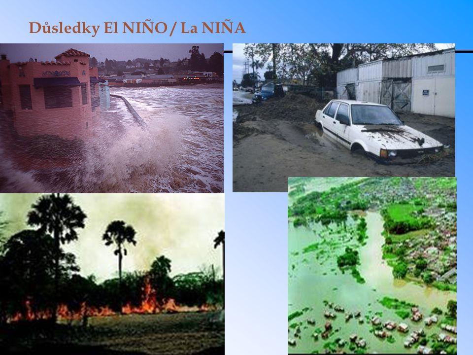 Důsledky El NIÑO / La NIÑA