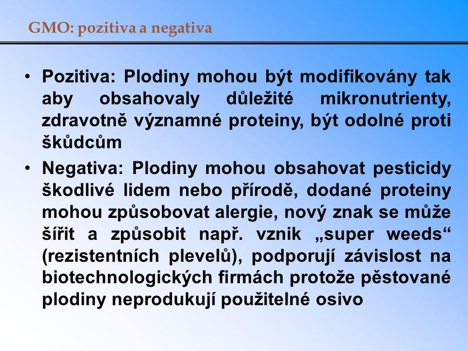 GMO: pozitiva a negativa