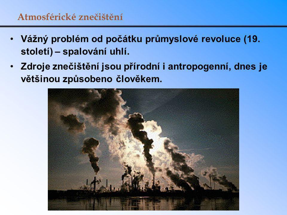 Atmosférické znečištění