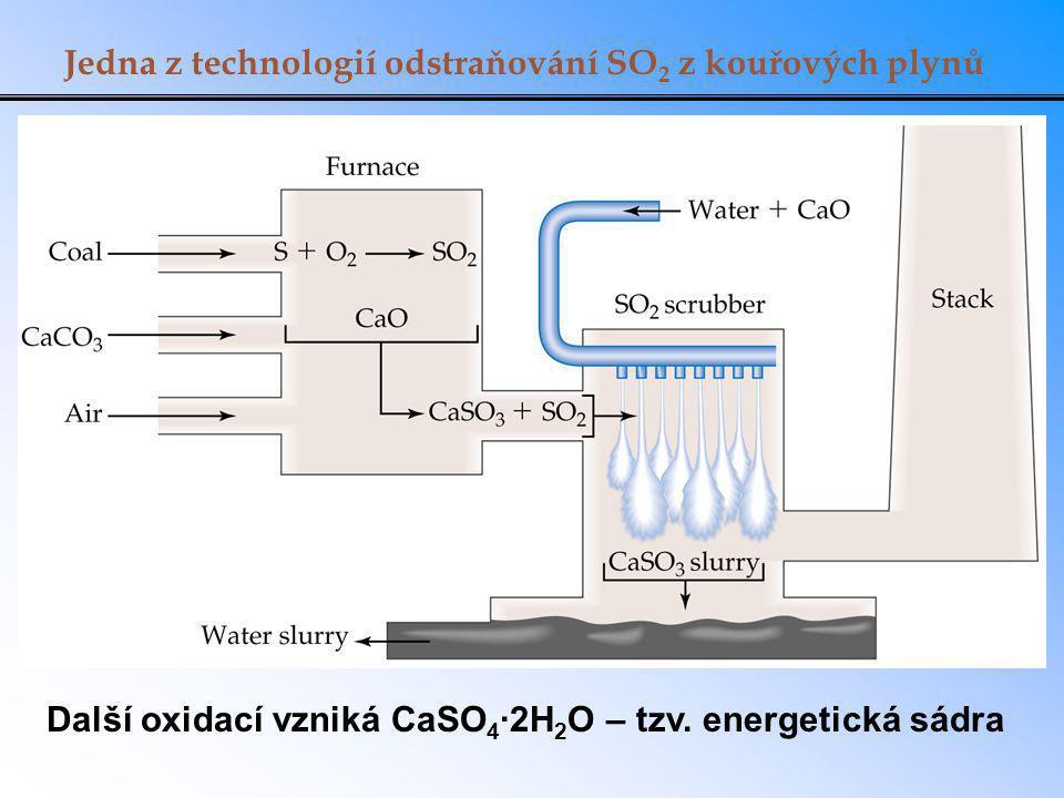 Jedna z technologií odstraňování SO2 z kouřových plynů