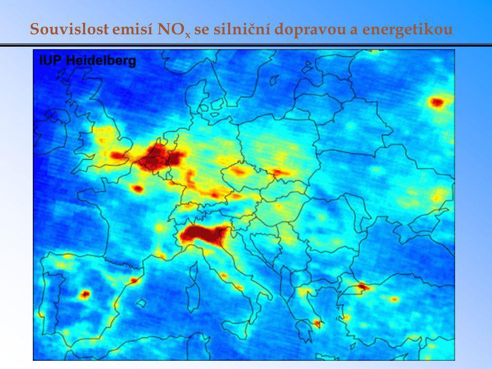 Souvislost emisí NOx se silniční dopravou a energetikou