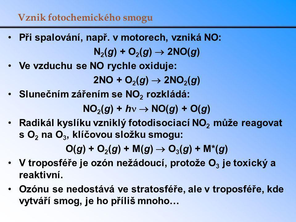 O(g) + O2(g) + M(g)  O3(g) + M*(g)