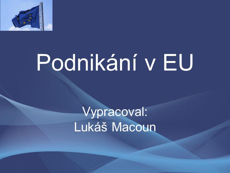 Podnikání v EU Vypracoval: Lukáš Macoun