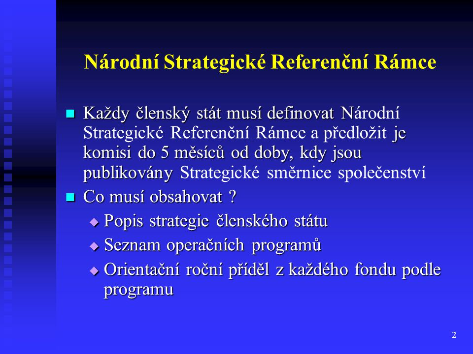 Národní Strategické Referenční Rámce