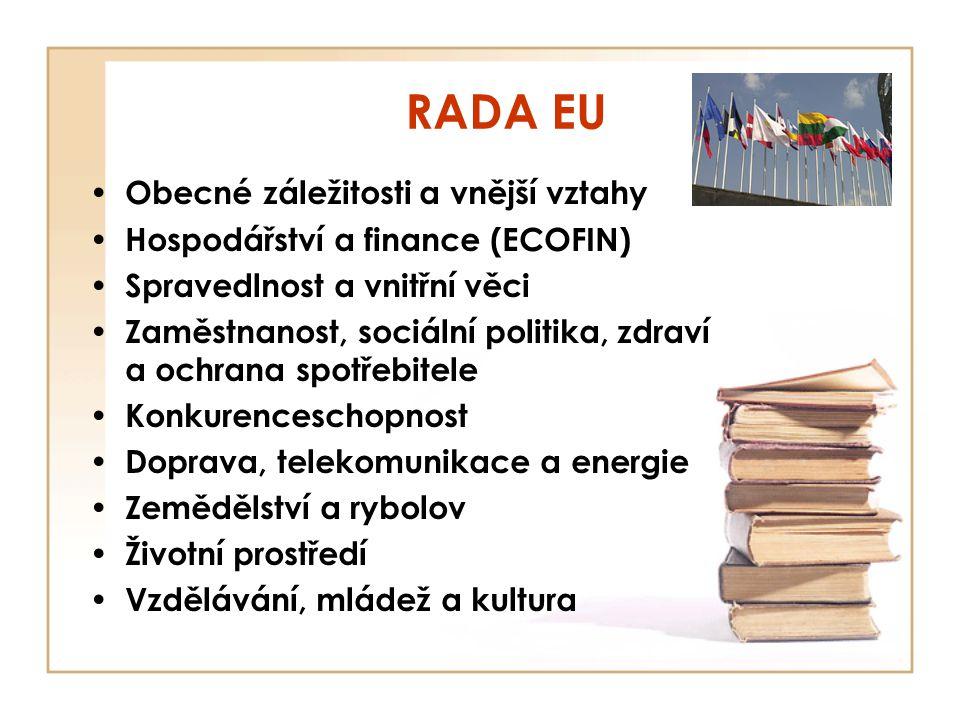 RADA EU Obecné záležitosti a vnější vztahy