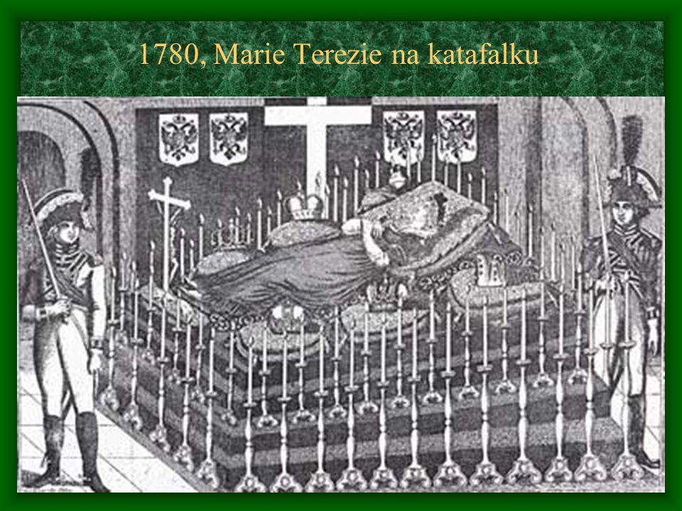 1780, Marie Terezie na katafalku