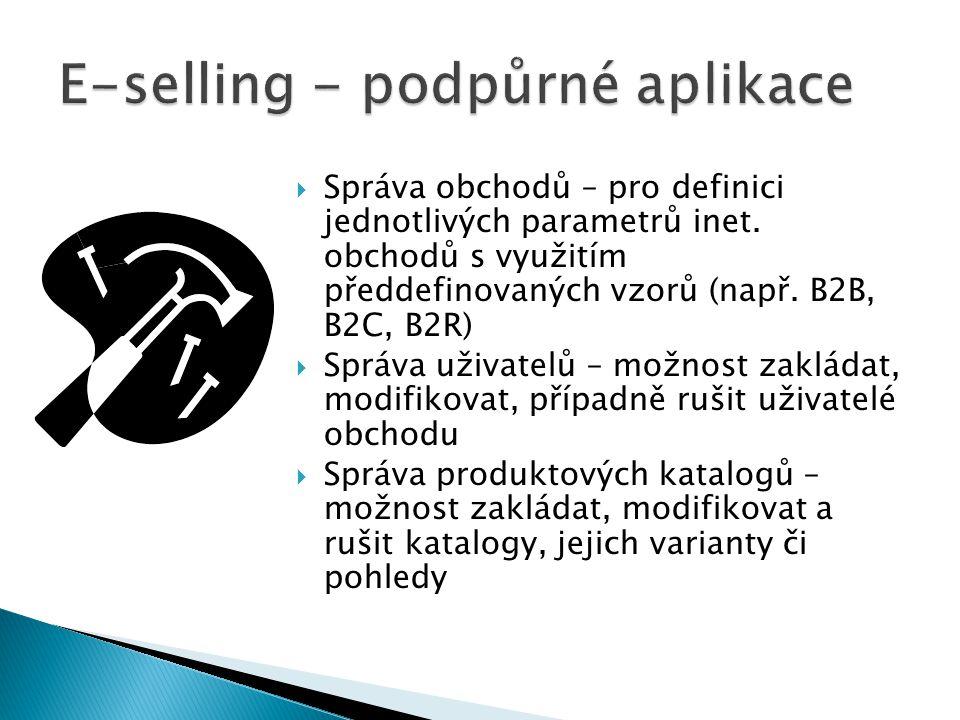 E-selling - podpůrné aplikace