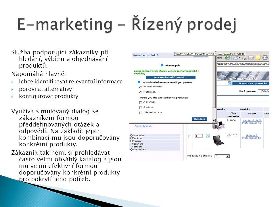 E-marketing - Řízený prodej