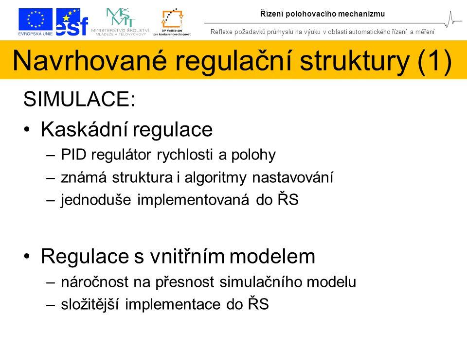 Navrhované regulační struktury (1)