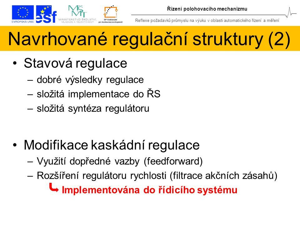 Navrhované regulační struktury (2)