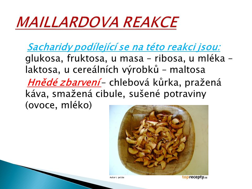 MAILLARDOVA REAKCE