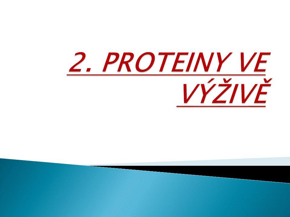 2. PROTEINY VE VÝŽIVĚ