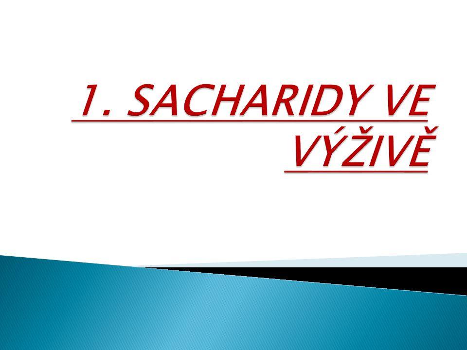 1. SACHARIDY VE VÝŽIVĚ