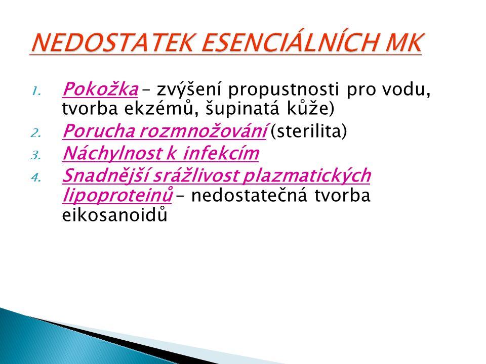 NEDOSTATEK ESENCIÁLNÍCH MK