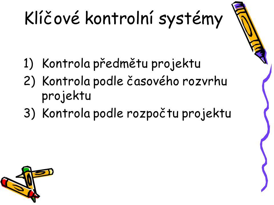 Klíčové kontrolní systémy