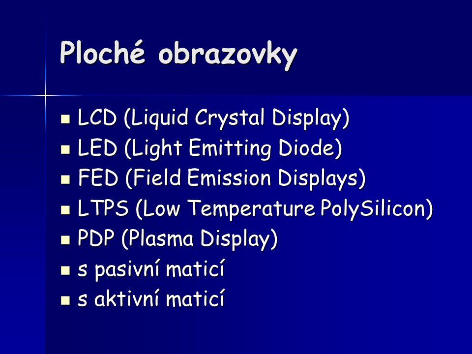 Ploché obrazovky LCD (Liquid Crystal Display)