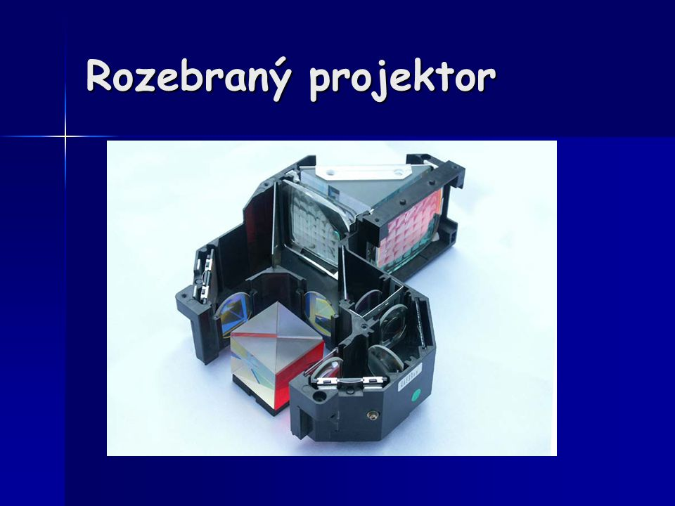 Rozebraný projektor