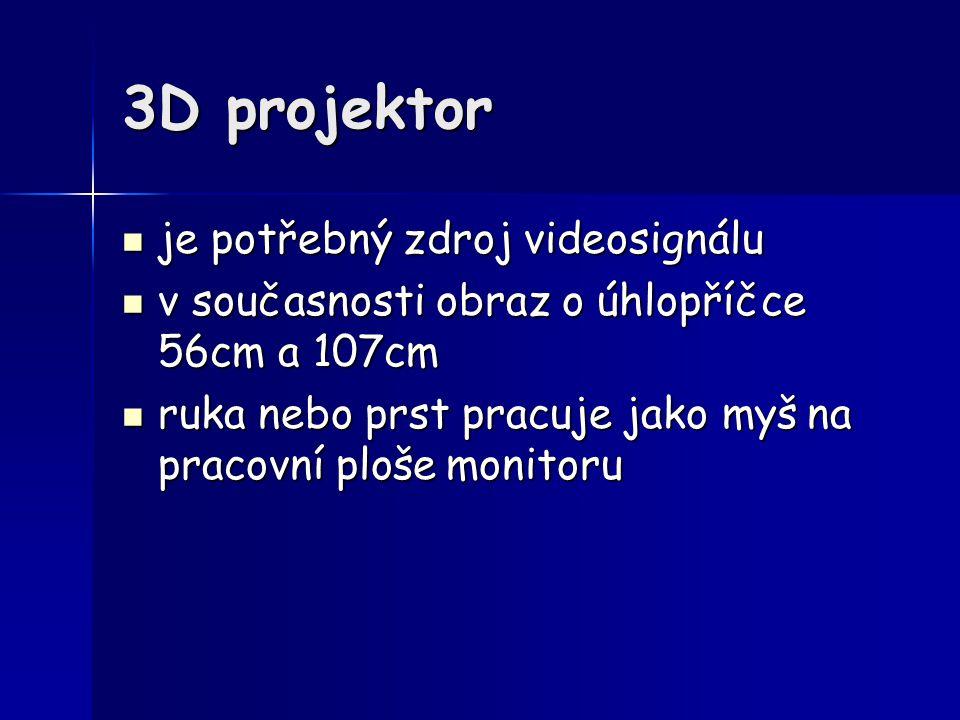 3D projektor je potřebný zdroj videosignálu