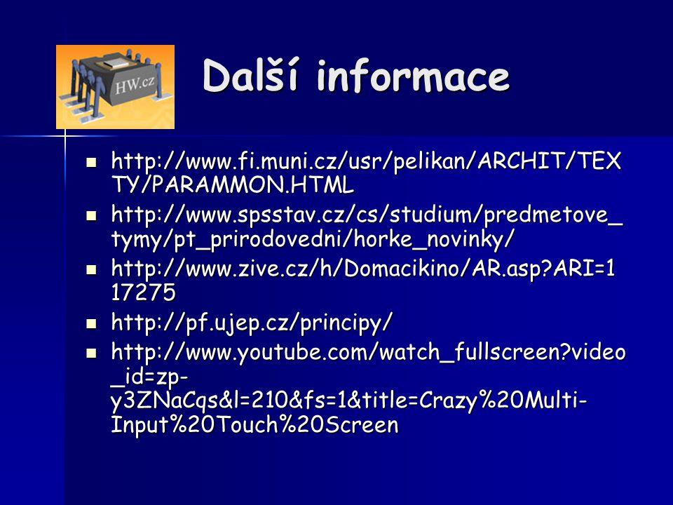 Další informace http://www.fi.muni.cz/usr/pelikan/ARCHIT/TEXTY/PARAMMON.HTML.