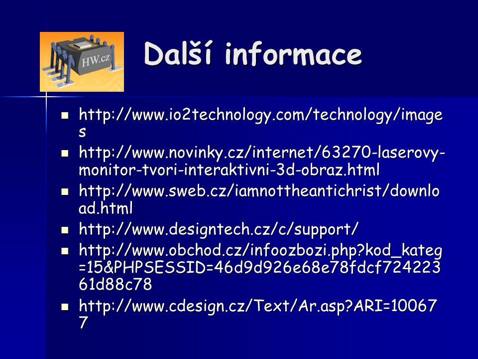 Další informace http://www.io2technology.com/technology/images