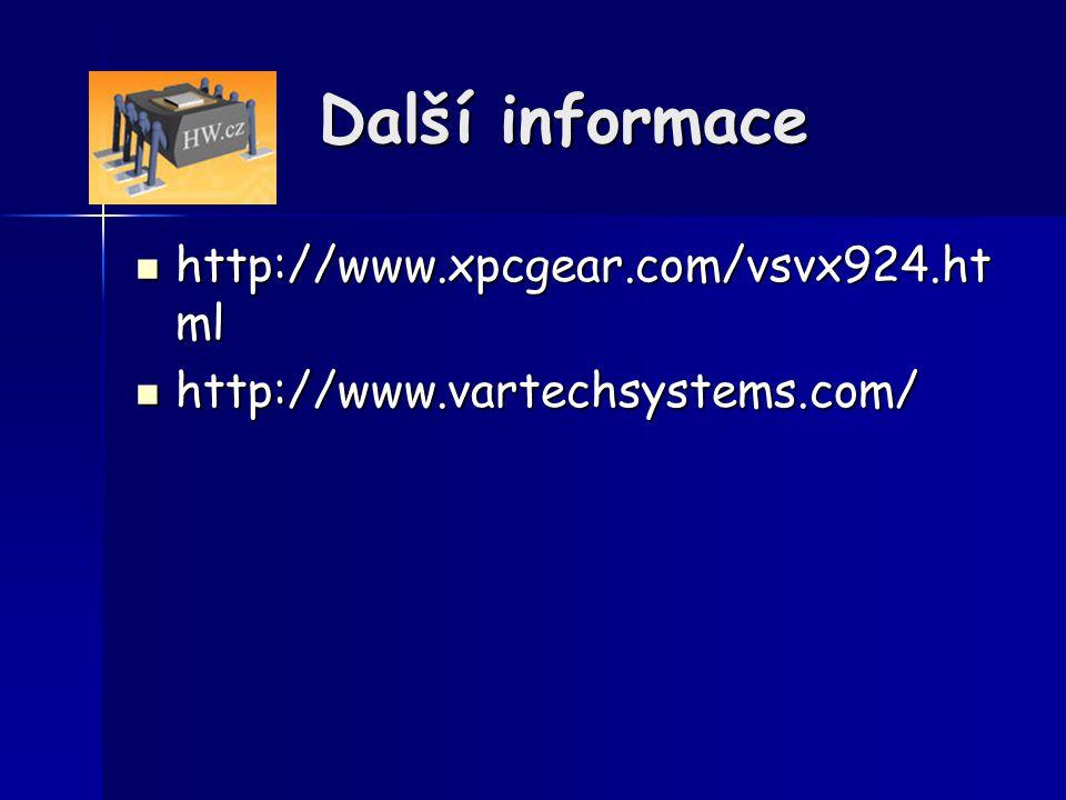 Další informace http://www.xpcgear.com/vsvx924.html
